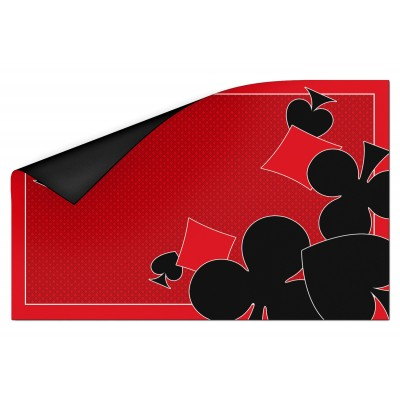 Tapis Ornament Card Rouge