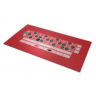 Tapis Roulette Anglaise Rouge