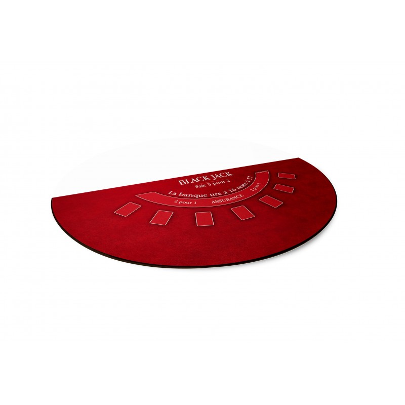 Tapis Black Jack Rouge