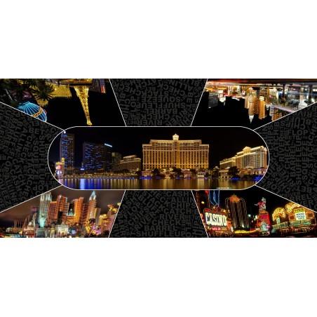 Tapis Poker - Vegas by night Rectangle