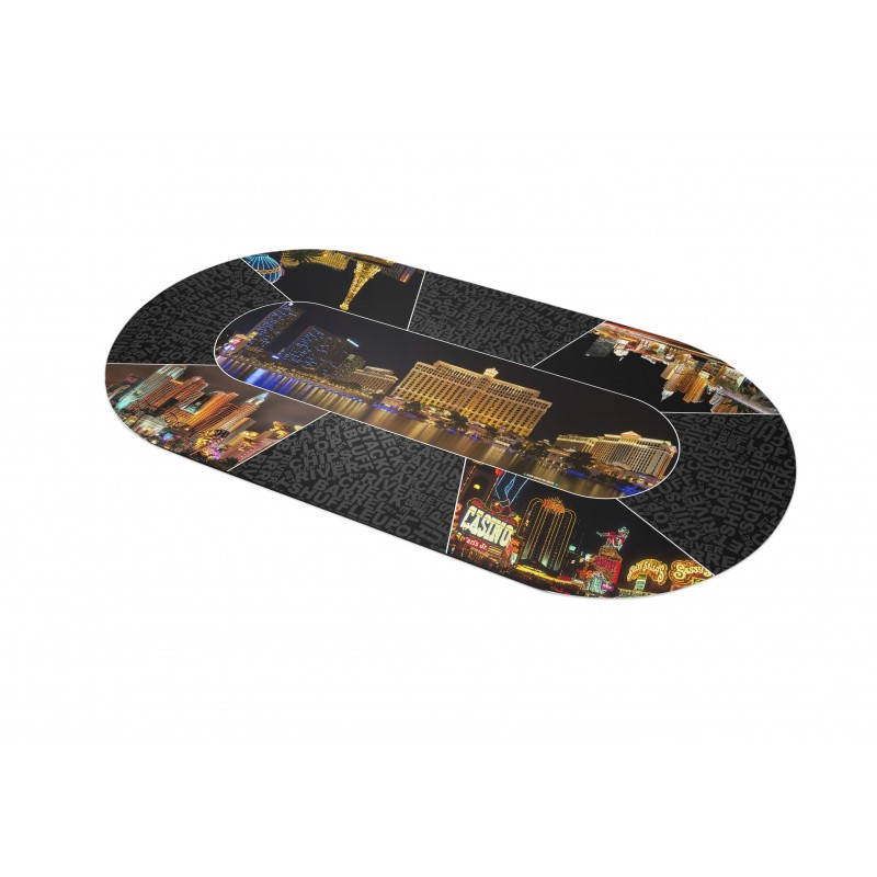 Tapis Poker - Vegas by night Ovale