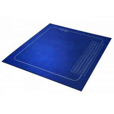 TAPIS BELOTE- BLEU-POINTS...
