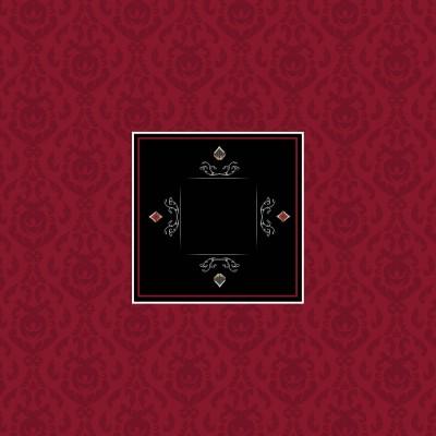 Tapis Poker - Victorian Bordeaux Carré