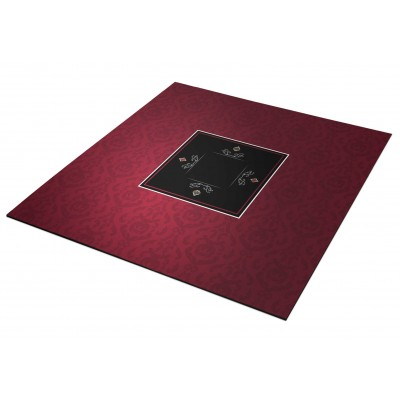 Tapis Poker - Victorian Bordeaux Carré