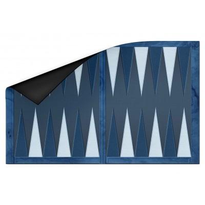 Backgammon effet cuir bleu...