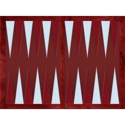 Backgammon effet cuir rouge...