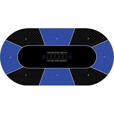 Texas Holden Bleu Ovale