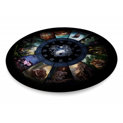 Tapis astrologie chinoise Rond