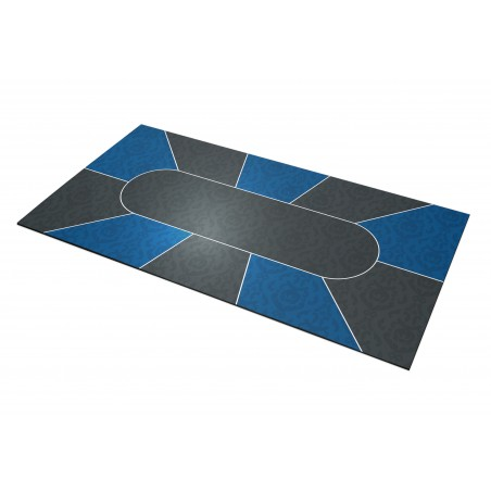 Tapis Poker Victorian Bleu Rectangle