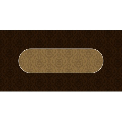 Tapis Poker Victorian Marron Rectangle