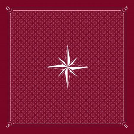 Tapis Tarot Rose des vents Bordeaux