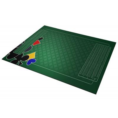 Tapis belote 60x100 cm vert...