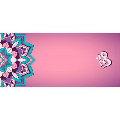 Yoga Mandala Rose 180x80cm