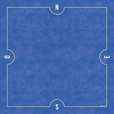 Tapis de Bridge 78x78cm Bleu