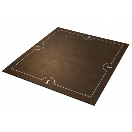 Tapis de Bridge 78x78cm Marron