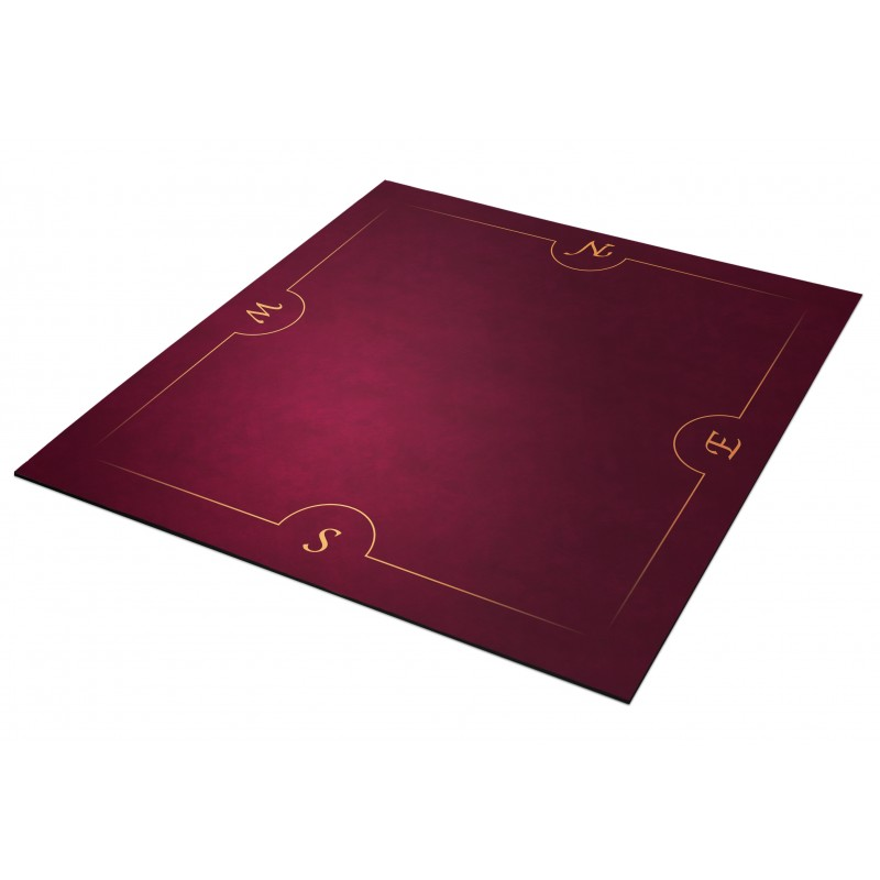 Tapis Bridge Bordeaux et Or 78x78cm